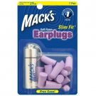 Mack's Slim Fit Soft Foam Ear Plugs Sleep Study Travel 7 Pair Earplugs Case