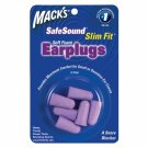 Mack's Slim Fit Soft Foam Ear Plugs Sleep Travel 3 Pair Earplugs Trial Size Pkg