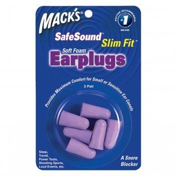Mack's Slim Fit Soft Foam Ear Plugs Sleep Travel 3 Pair Earplugs Trial Size Pkg