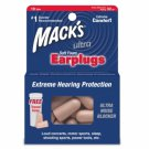 Mack's Ultra Soft Foam Ear Plugs Sleep Study Sports Events 10 Pair Earplugs Case