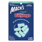 Mack's Original Soft Foam Ear Plugs 3 Pair Trial Earplugs Sleep Study Travel