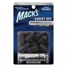 Mack's Blackout Soft Foam Shooters Earplugs 7 Pair Covert Ops Ear Plugs Case