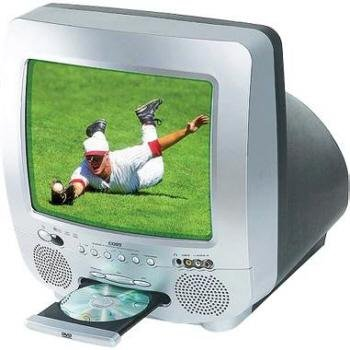 "Coby 13"" Color TV With DVD Player"
