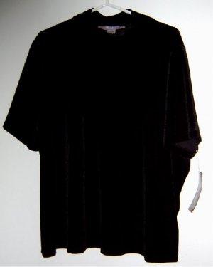 """New t-shirt stretch black velvet 3X """"Tanjay"""" by NYGARD"""