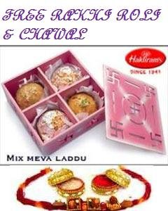 Haldirams Mix Meva Laddu 1 kg + Rakhi Kit