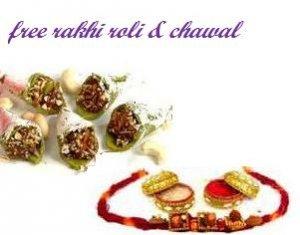 Haldirams  KAJU Chocolate pan   + Rakhi Kit
