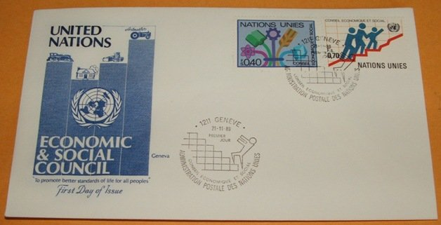 United Nations Economic and Social Council First Day Cover