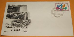 United Nations Economic and Social Council 1980 First Day Cover