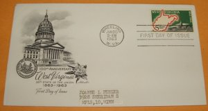 100th Anniversary of West Virginia Statehood First Day Cover