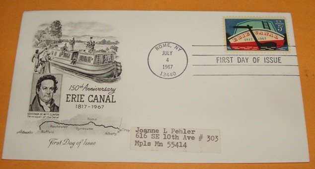 150th Anniversary of the Erie Canal First Day Cover, FDC