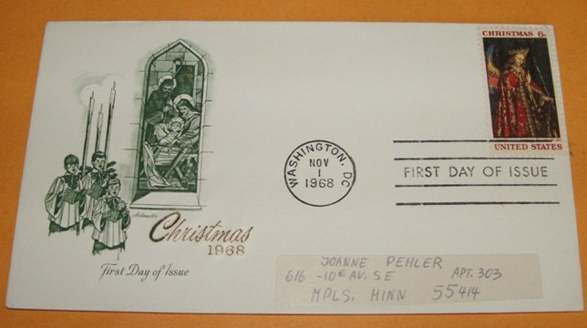 Christmas 1968 First Day Cover (FDC)