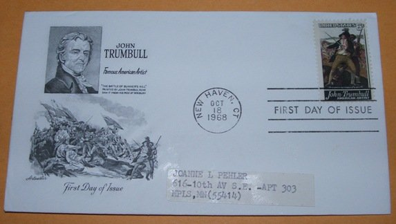 John Trumbull Famous American Artist First Day Cover (FDC)