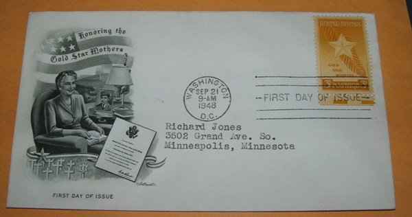 Honoring The Gold Star Mothers First Day Cover (FDC)