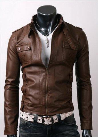 Strap Pocket Light Brown Jacket
