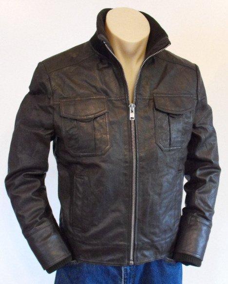 Modern Bomber Leather Jacket