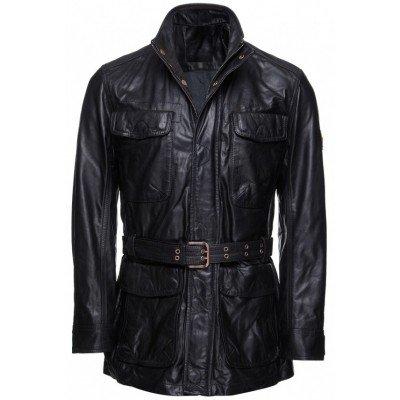 Men Luxury Belted Biker Jacket