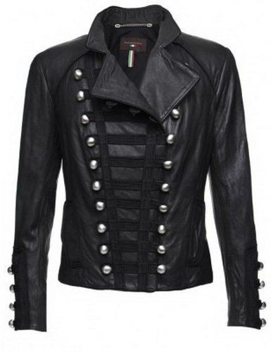 Womens Benedetti Black Biker Leather Jacket
