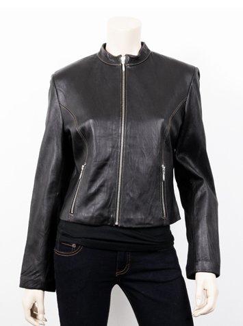 Women Short Trendy Leather Jacket