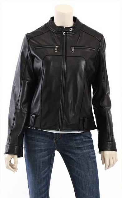 Women Trendy Biker Leather Jacket