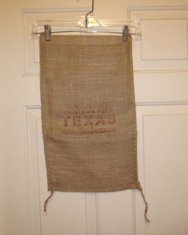 Warning Comtains Pure Texas Burlap or European Linen Sack Bag 20 X 12 New