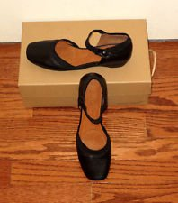 Gentle Souls Black Flats Shoes 5.5 M ISO Jane LE Ankle Strap New Box NIB