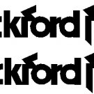 "ROCKFORD FOSGATE VINYL STICKER DECAL YOU GET 2 STICKERS 7.85"" WIDE!"