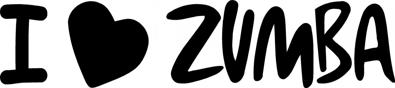 "I LOVE ZUMBA VINYL DECAL STICKER 7.85"" WIDE!"