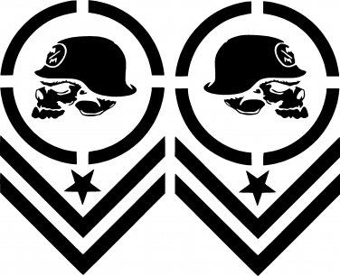 Metal Mulisha Chevron Vinyl Decal Sticker Set Of 2