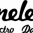 danelectro set of 3 vinyl  decals stickers