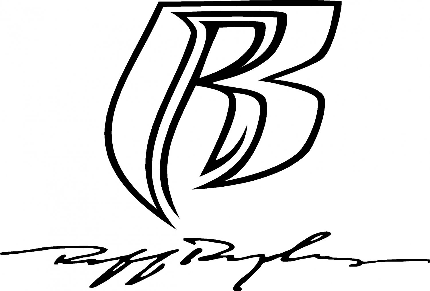 ruff ryders R and signature  vinyl decal sticker set
