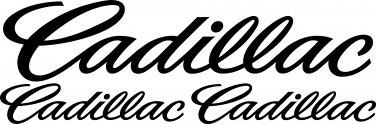CADILLAC VINYL DECAL STICKER SET OF 3!