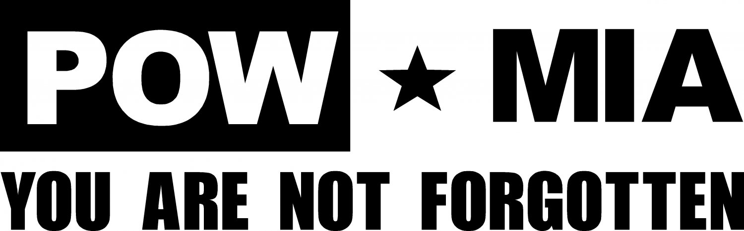 pow mia you are not forgotten vinyl decal sticker die cut!