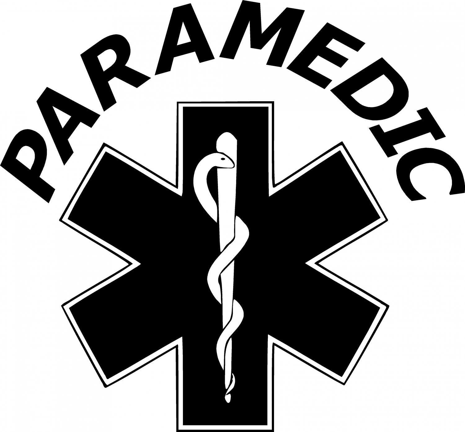 Paramedic Star Of Life Vinyl Decal Sticker