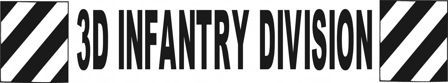 3D INFANTRY DIVISION ARMY MILITARY VINYL DECAL STICKER