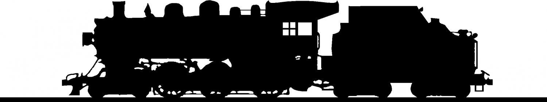 """TRAIN LOCOMOTIVE DETAILED! VINYL DECAL STICKER 9"""" WIDE"""