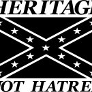 rebel southern heritage not hatred vinyl decal sticker