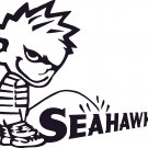 pee on piss on seattle seahawks vinyl decal sticker