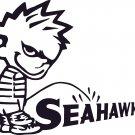 pee on piss on seattle seahawks vinyl decal sticker