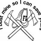 fireman firefighter saving lives vinyl decal sticker