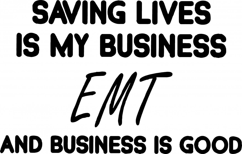 EMT SAVING LIVES VINYL DECAL STICKER