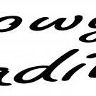 "COWGIRL CADILLAC VINYL DECAL STICKER 7.85"" WIDE"
