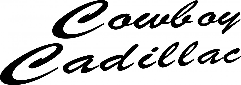 "COWBOY CADILLAC VINYL DECAL STICKER 7.85"" WIDE!!"