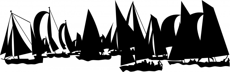 "sailboats sailing vinyl decal sticker 9"" wide"