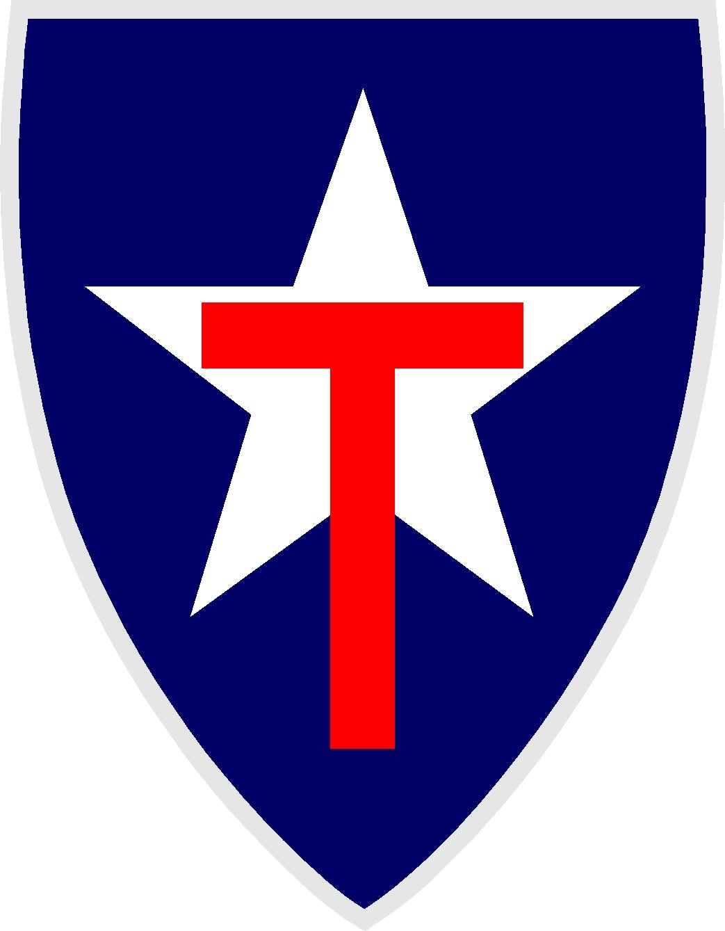 """TEXAS STATE GUARD FULL COLOR VINYL DECAL STICKER APPROX 3.77"""" TALL X 2.9"""" WIDE"""