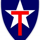 "TEXAS STATE GUARD FULL COLOR VINYL DECAL STICKER APPROX 3.77"" TALL X 2.9"" WIDE"