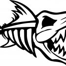 nitro fish skeleton fish bones skull vinyl decal sticker