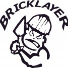 BRICKLAYER MASON STONEMASON STONE CUTTER VINYL DECAL STICKER