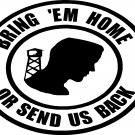 POW MIA BRING EM HOME OR SEND US BACK vinyl sticker decal