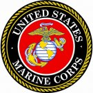 "US MARINE CORP EMBLEM VINYL DECAL STICKER 2.43"" round"