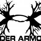 """UNDER ARMOUR ANTLER VINYL DECAL STICKER 10"""" wide x 6.45"""" tall"""